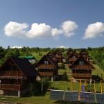 domki krasnobród  z góry 1